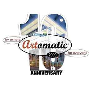 Artomatic 10th Anniversary White Square Banner