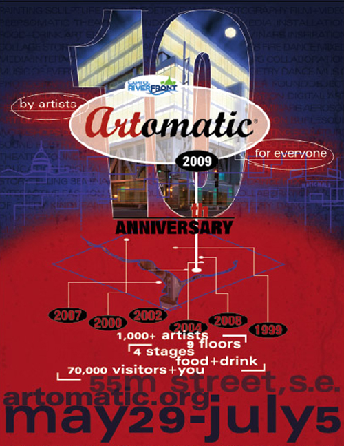 Artomatic 10th Anniversary Flyer